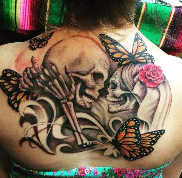 Calaveras Entre Flores Y Mariposas Tattoos Tatuajes Tatuajes