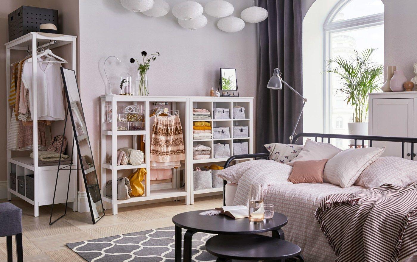 Gut durchdachte offene Aufbewahrungen Schlafzimmer