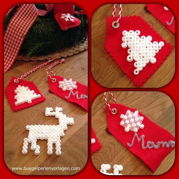 Diy geschenkanhnger weihnachtsmotive hama jul christmas diy christmas gift tag hanger from perler hama beads solutioingenieria Gallery