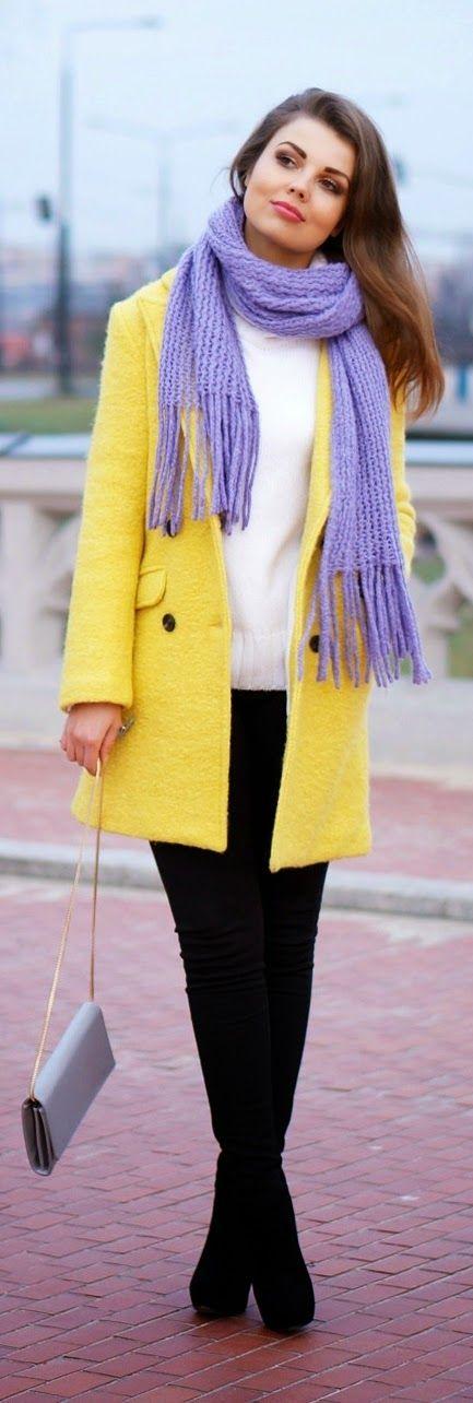 Pop Yellow and Purple / Best Street Women's Fashion