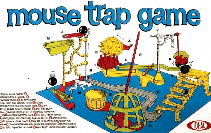Mouse Trap Once You Got It Set Up You Were Tired Of Playing Gaming In 2020 Vintage Toys 1960s Classic Toys Kids Toys