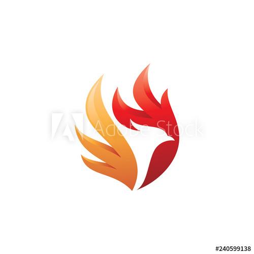 Fire Bird Phoenix Logo Design Falcon Eagle Hawk And Wing Vector Icon Buy This Stock Vector And Explore Similar Vector Logo Design Fire Bird Phoenix Design