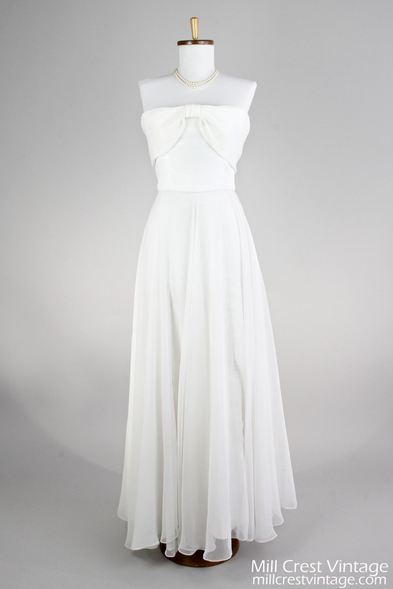 strapless chiffon vintage wedding gown what a girl wants
