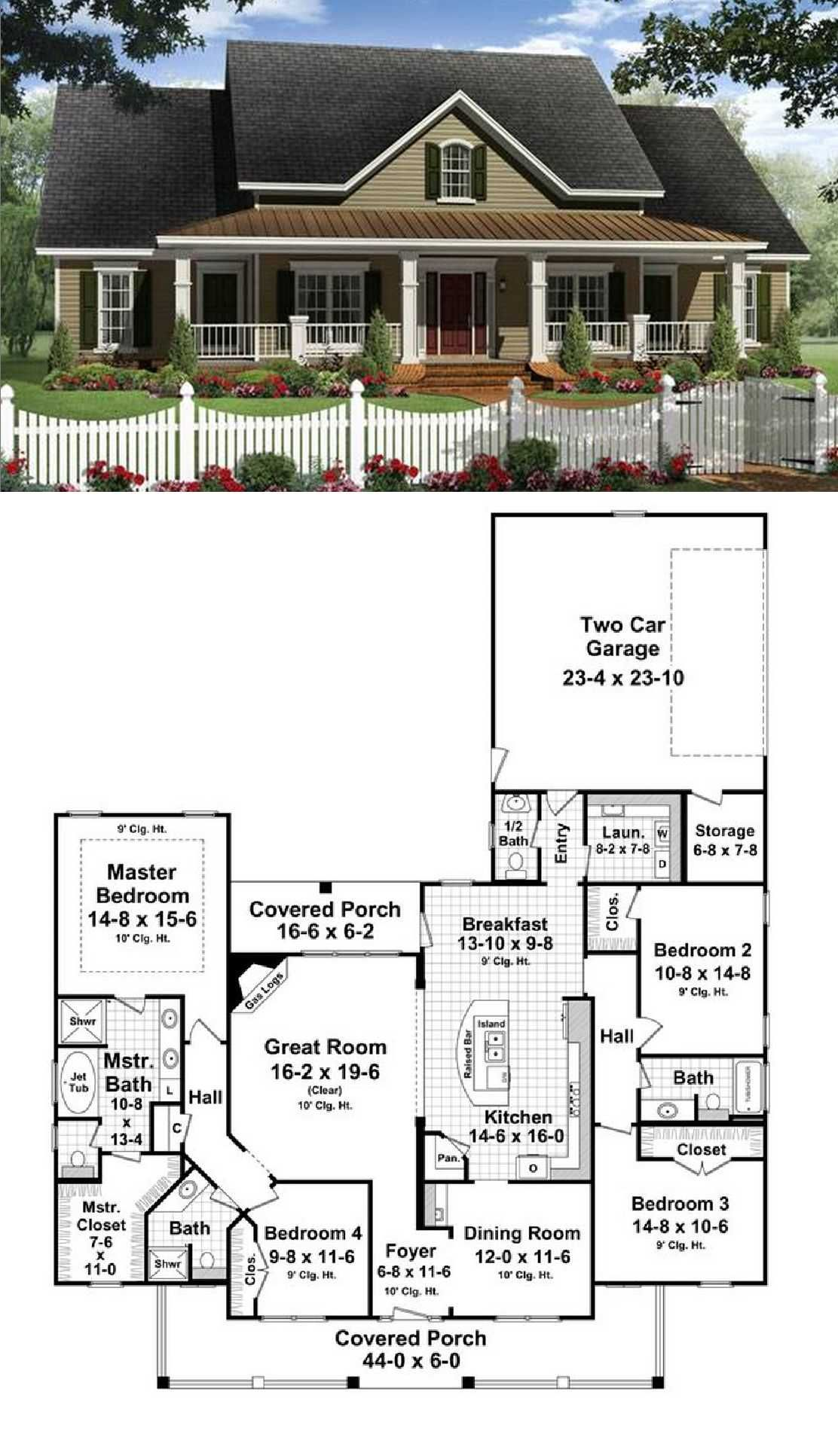 Two Story Simple Ranch Style House Awesome Two Story Simple Ranch Style House Sim 2 House Ideas I House Plans Farmhouse New House Plans Country House Plans