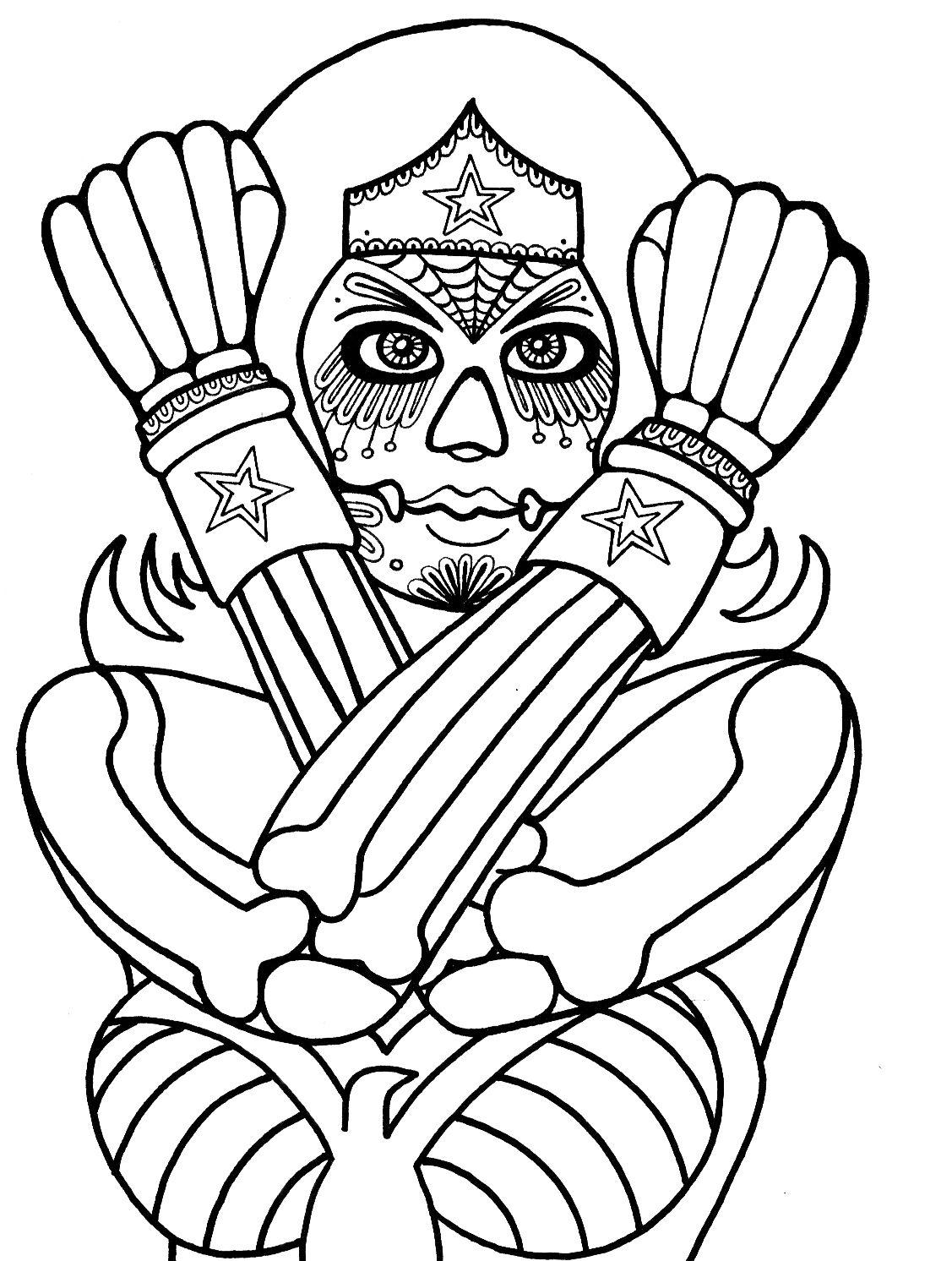 Dia De Los Muertos Coloring Pages | Wenchkin\'s coloring pages - Dia ...