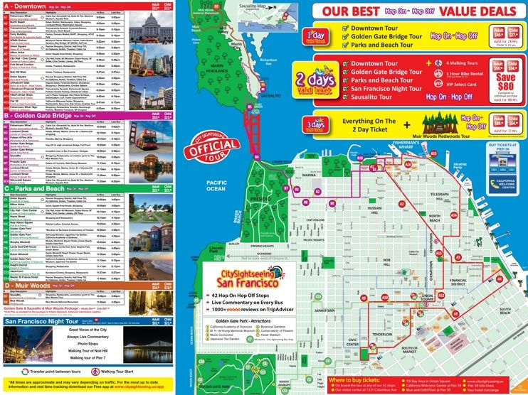 San Francisco Tourist Attractions Map Maps Pinterest San - San francisco sightseeing map