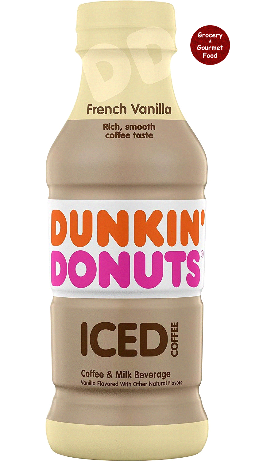 Dunkin' Donuts Bottled Ice Coffee, French Vanilla, coffee