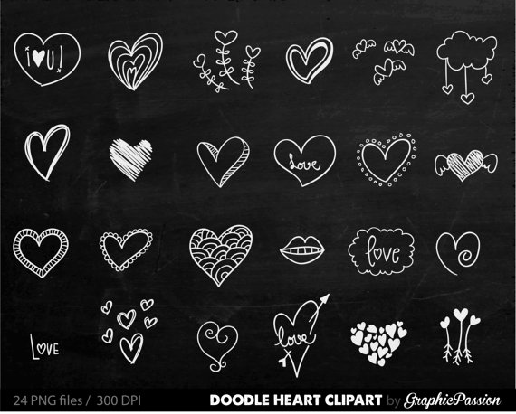Chalkboard Hearts Clip Art Hand Drawn Clip Art Digital Hearts Clipart Chalk Drawing Wedding Invitation Chalkboard Valentines Day