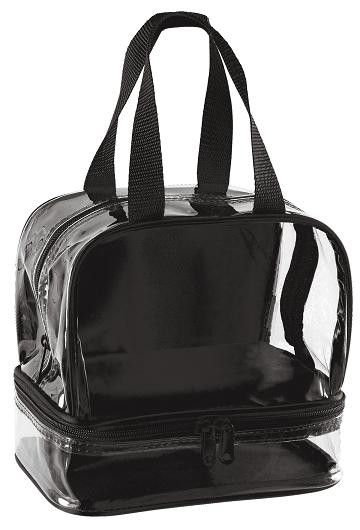 Clear Lunch Bag Black Trim B1027