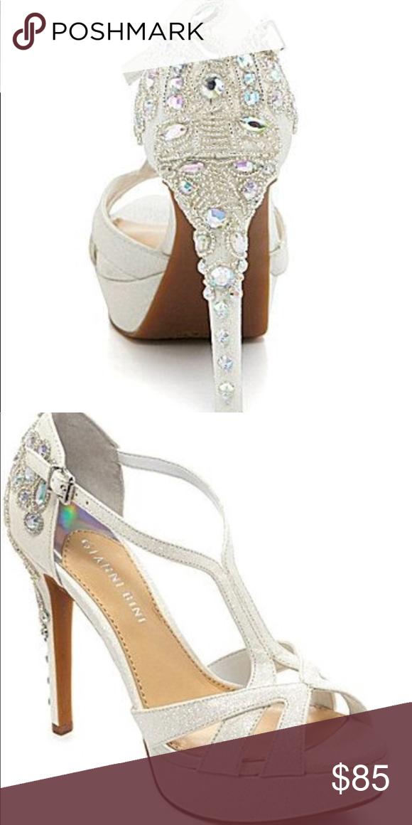255a436887b Gianni Bini Geneva Jeweled Glitter Heel  worn once Gianni Bini Geneva  Jeweled Glitter Heels
