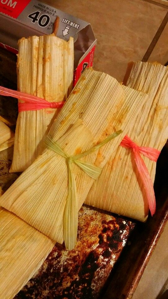 My Daughters Dyed Corn Husks To Make Cute Ties For Our Tamales Food Recipes Tamale Recipe