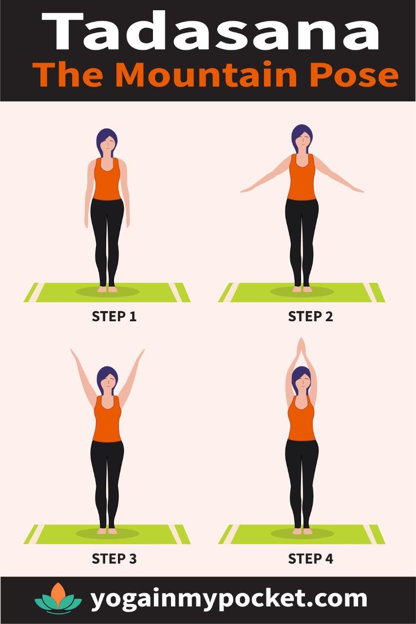 Learn The Mountain Pose Tadasana In 2020 Mountain Pose Yoga For Beginners Poses