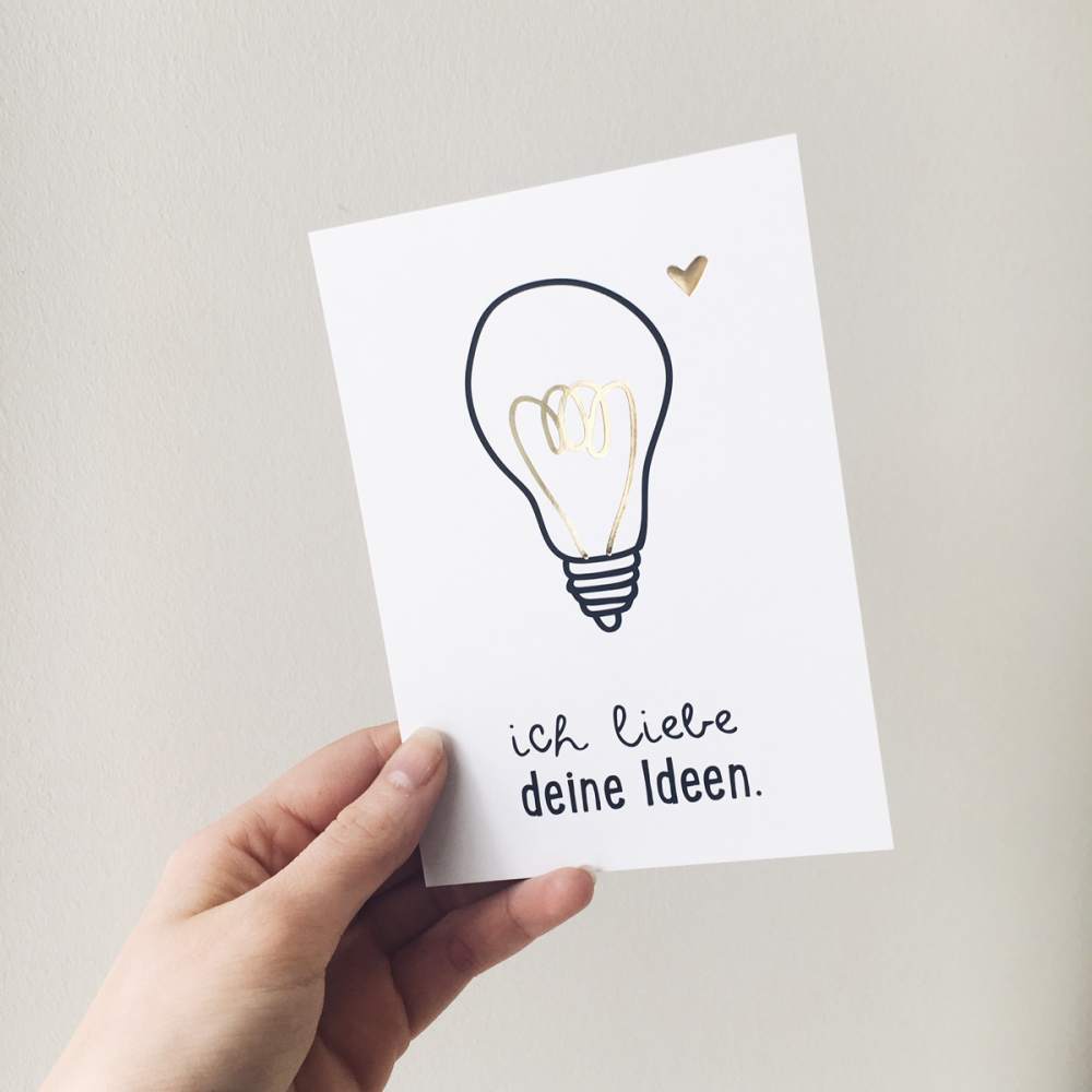 What on earth would you do without that person? You know, the one who has moments of genius and provides you with the best ideas ever? In any case, without that person, the world would be a duller place.  This postcard is the perfect...