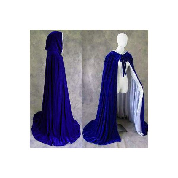 USA Adult hooded cloak wedding cape Halloween wicca robe coat Medieval Witchcra