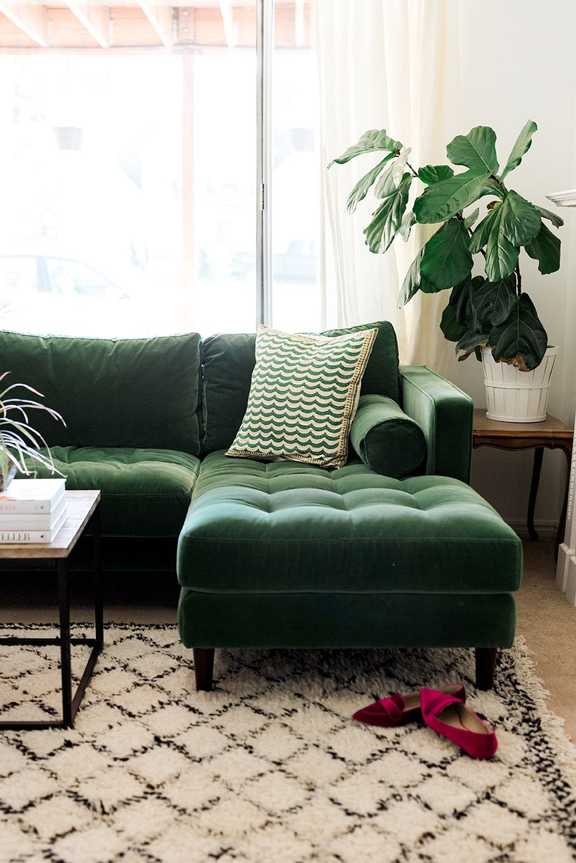 Mein neues grünes Sofa   Grüne wohnzimmer, Wohnzimmer ...