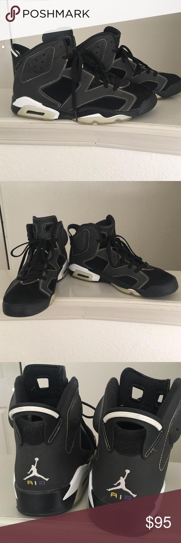 Retro 6 black laker edition Men's Laker edition retro 6 Nike air Jordan's.  Excellent condition Nike Shoes Sneakers
