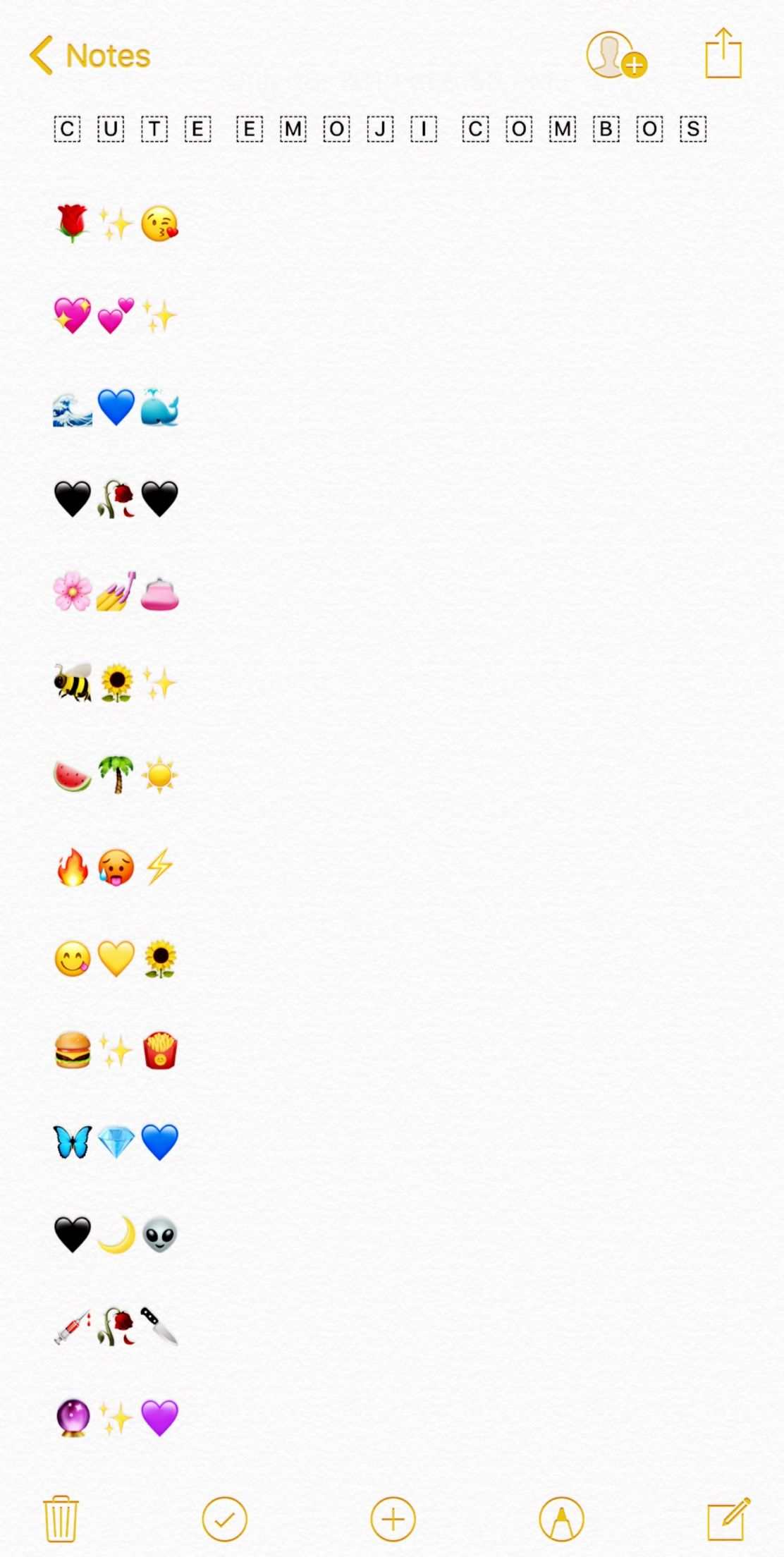 Cute Emoji Combos Emoji Combinations Instagram Emoji Cute Emoji Combinations