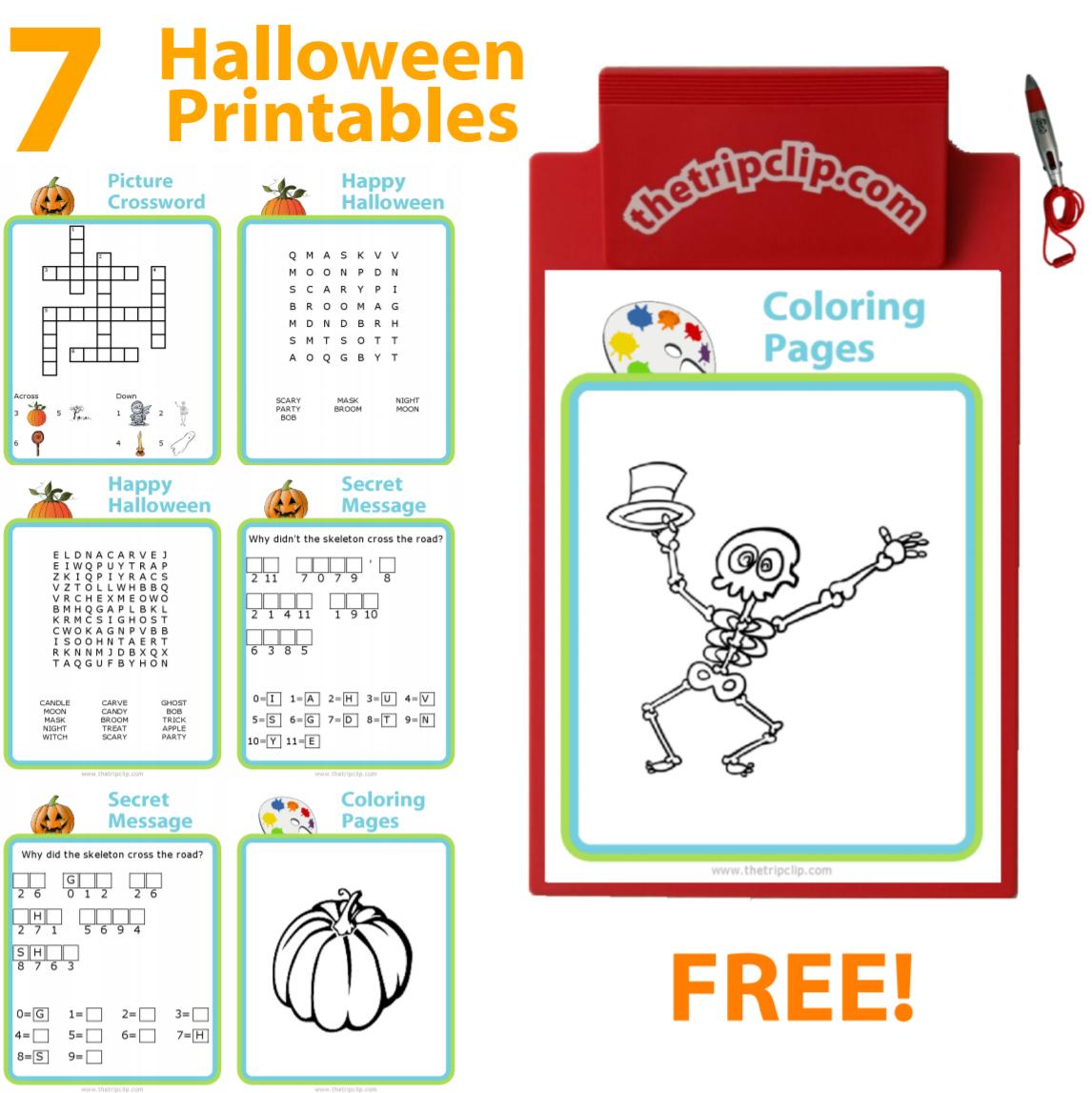 7 Free Halloween Printables