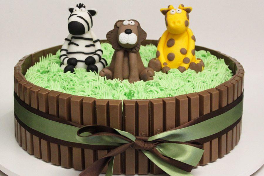 Extremamente bolo de kit kat safari - Pesquisa Google | Baby shower cake ideas  DE97