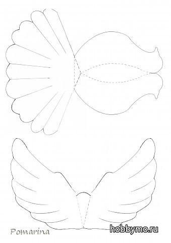 Как сделать объемного голубя из бумаги фото 752