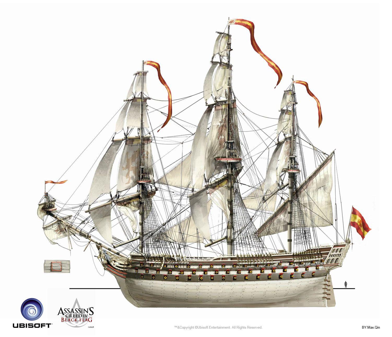 Assassin S Creed Ship Concept Veleiros Navio Imperio Espanhol