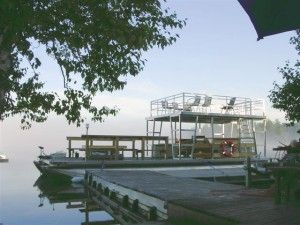 Party Boat Custom Kit To Add Deck And Slide To Pontoon Party Barge Pontoon Boat Lake House