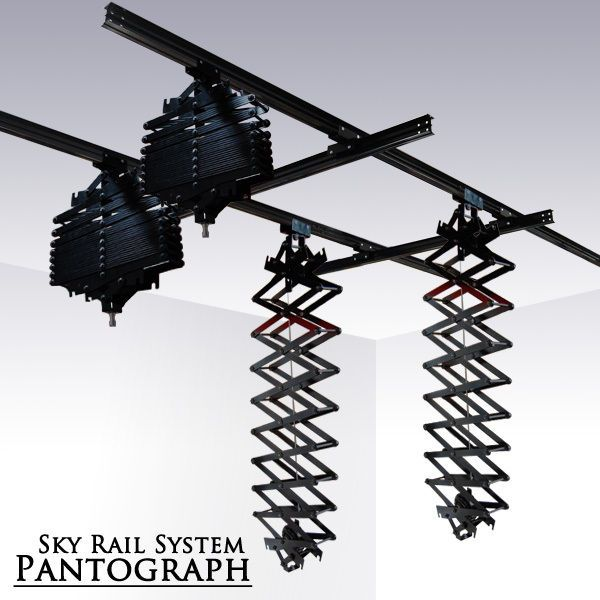 Ls Photo Studio Lighting Sky Rail System Pantograph Ceiling Sliding