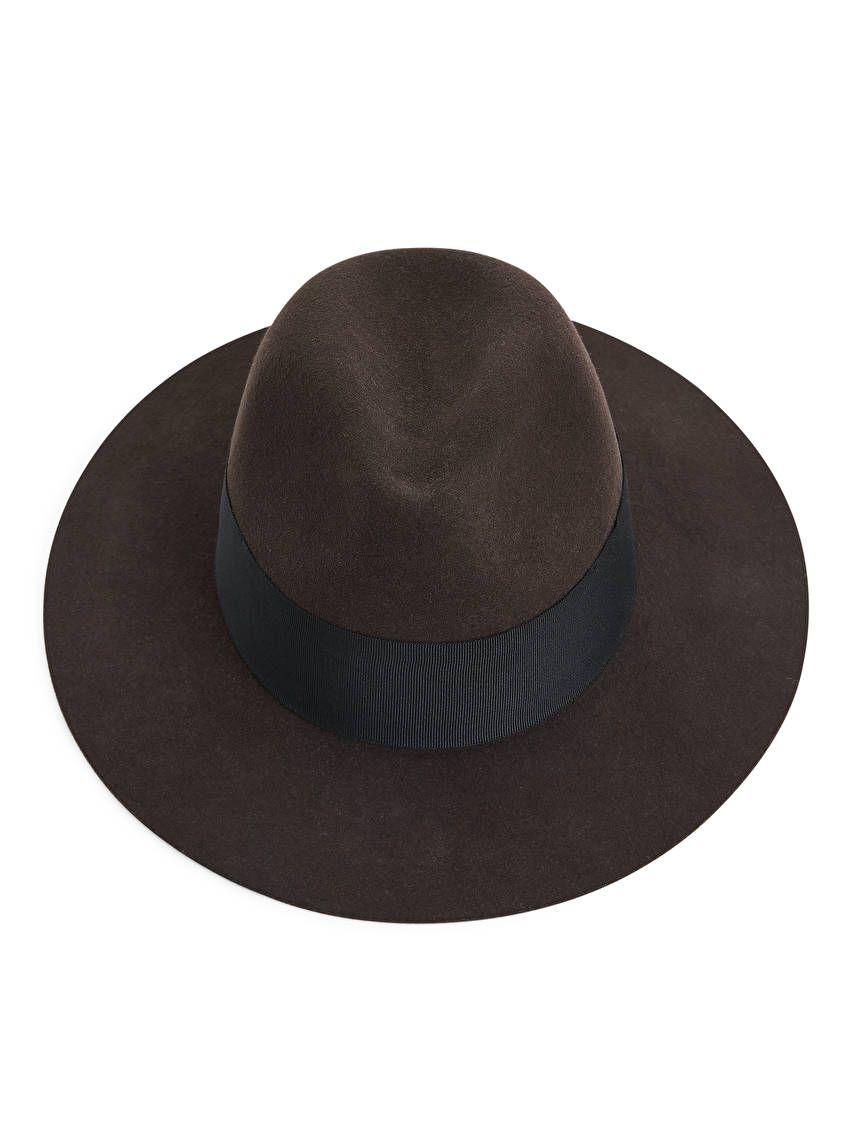 Felted Wool Fedora Hat Brown Bags Accessories Arket Wool Fedora Hat Wool Fedora Fedora Hat