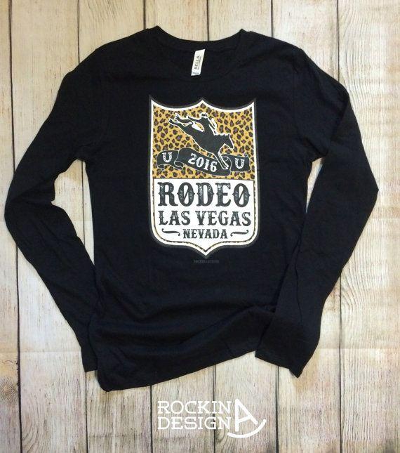 16080637 Rodeo Las Vegas Nevada long sleeve t shirt / by RockinAdesign Rockin A  Design cowgirl raglan rodeo cowboy bronc rider back number NFR national  finals Las ...