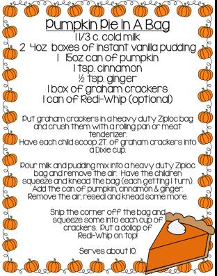 Pumpkin Pie In A Bag!