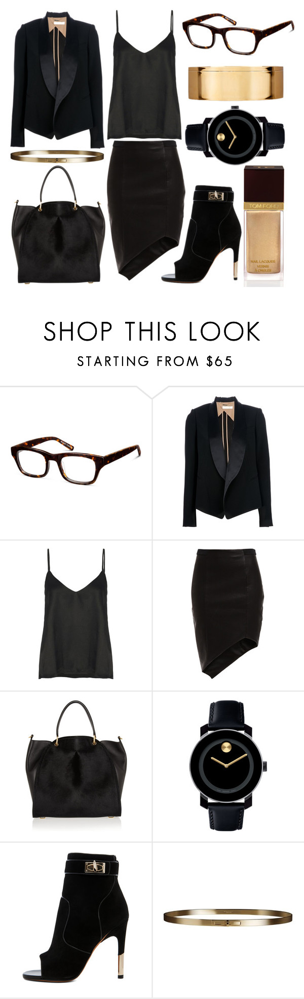 """My Summer Internship"" by ginshelyn ❤ liked on Polyvore featuring Warby Parker, Chloé, Acne Studios, Bardot, Maiyet, Givenchy, Movado, Burberry, Tom Ford and summerinternship"