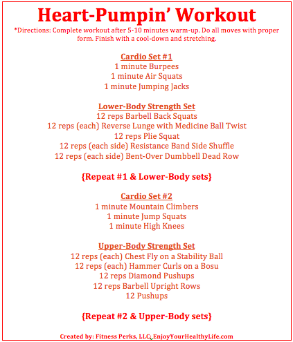 "Sculpt It All ""Heart Pumpin' Workout"""
