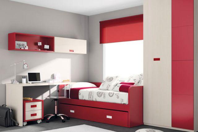 Fotos von in rot gehaltenen Jugendzimmern Teenager