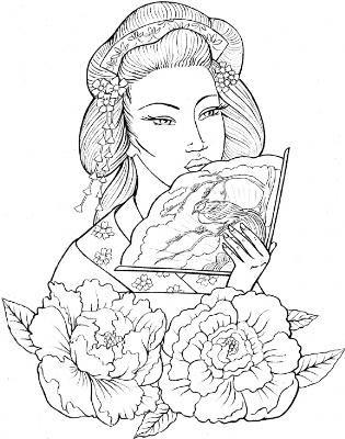 GeishaGirl  Body Art  Pinterest