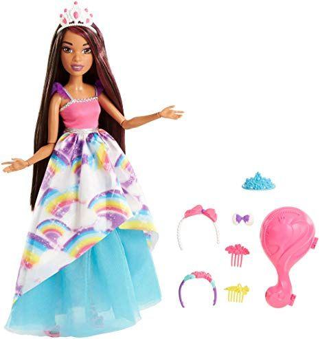 Barbie FXC81 Dreamtopia Große Zauberhaar Prinzessin Puppe