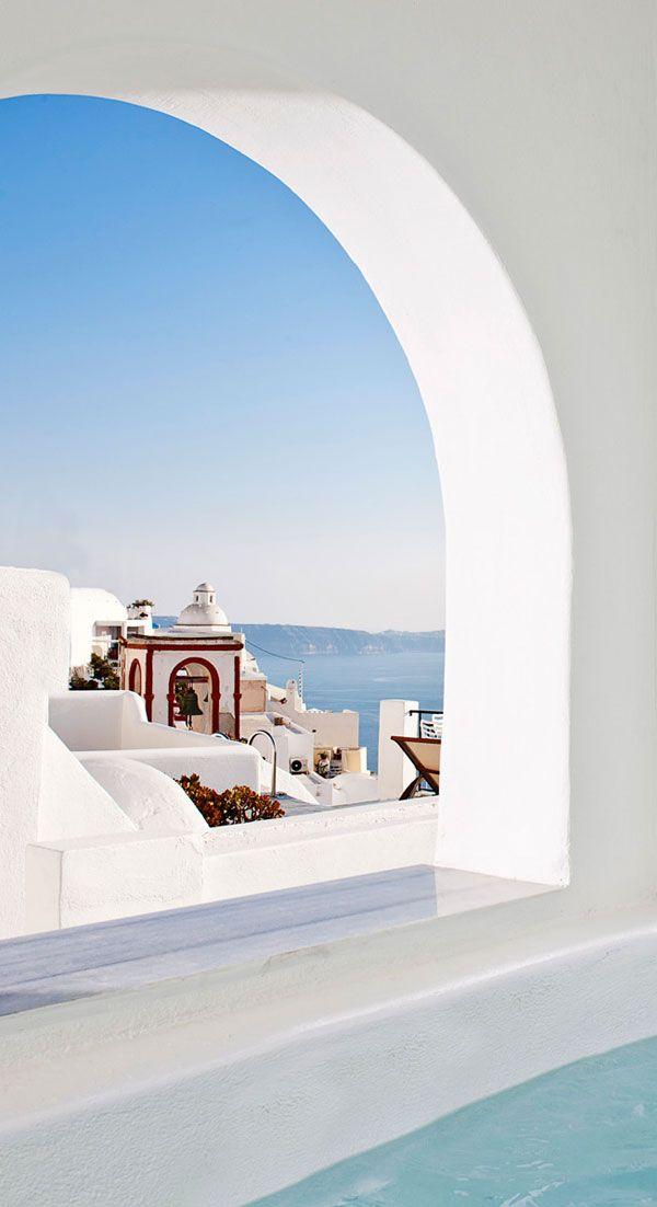 Hidden window in Fira, Santorini