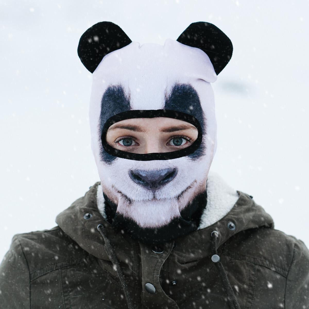 Lustige Skimasken mit Tiermotiven