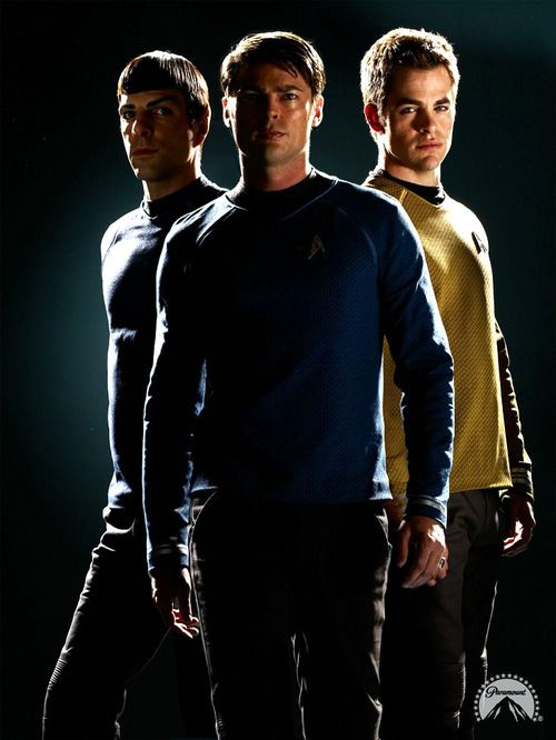 "James T. Kirk, Spock, Leonard ""Bones"" Mccoy - Star Trek 2009. SubCategory: OT3 of win"