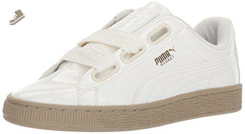 PUMA Basket Heart Patent Women's Sneakers Color Peach Beige
