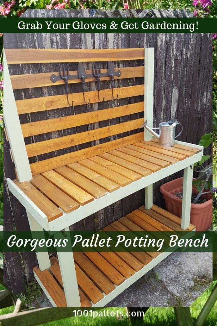 Simple pallet potting bench this is my