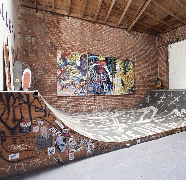 Indoor Skate Ramp, In An Apartment