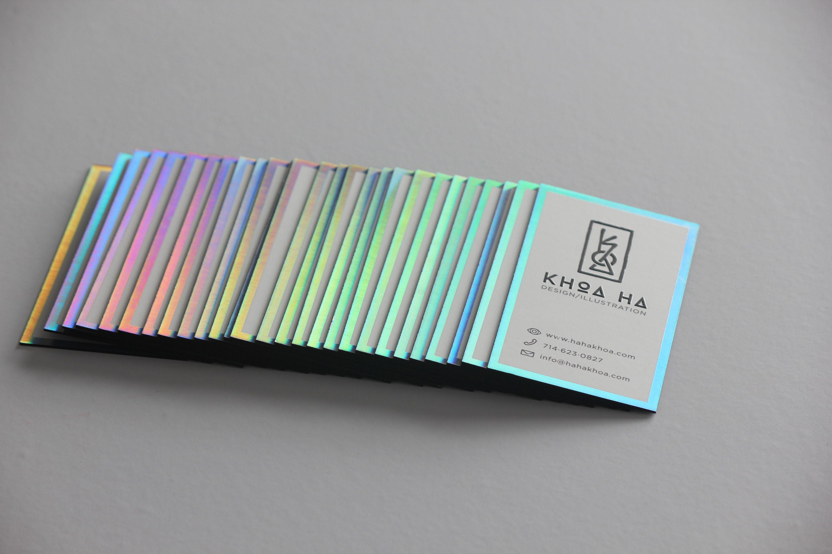 32pt Silk Laminated Business Cards • Black Edge Paint • Spectrum ...