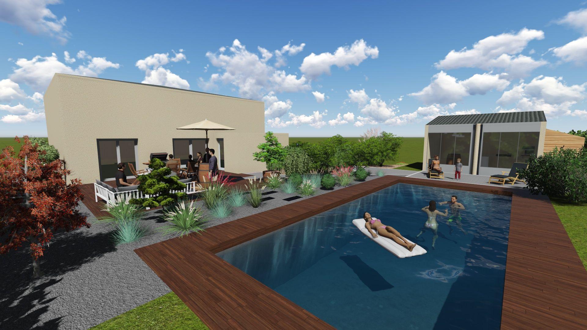 Aménagement autour d\'une piscine | Entourage Vert | Entourage Vert ...