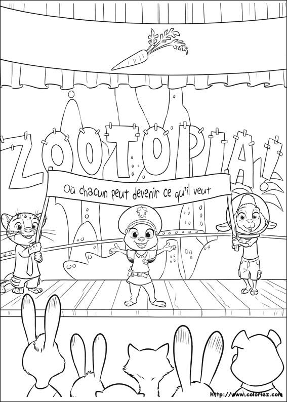Printable Disney Zootopia Coloring Pages For Older Kids 7 Find This
