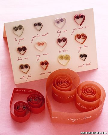 quilled open hearts