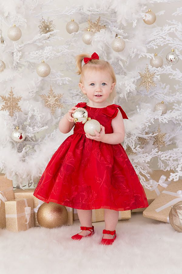 6344e0153209 BEAUTIFUL LITTLE GIRL IN HOLIDAY RED DRESS ~ Holiday Mini Session ...
