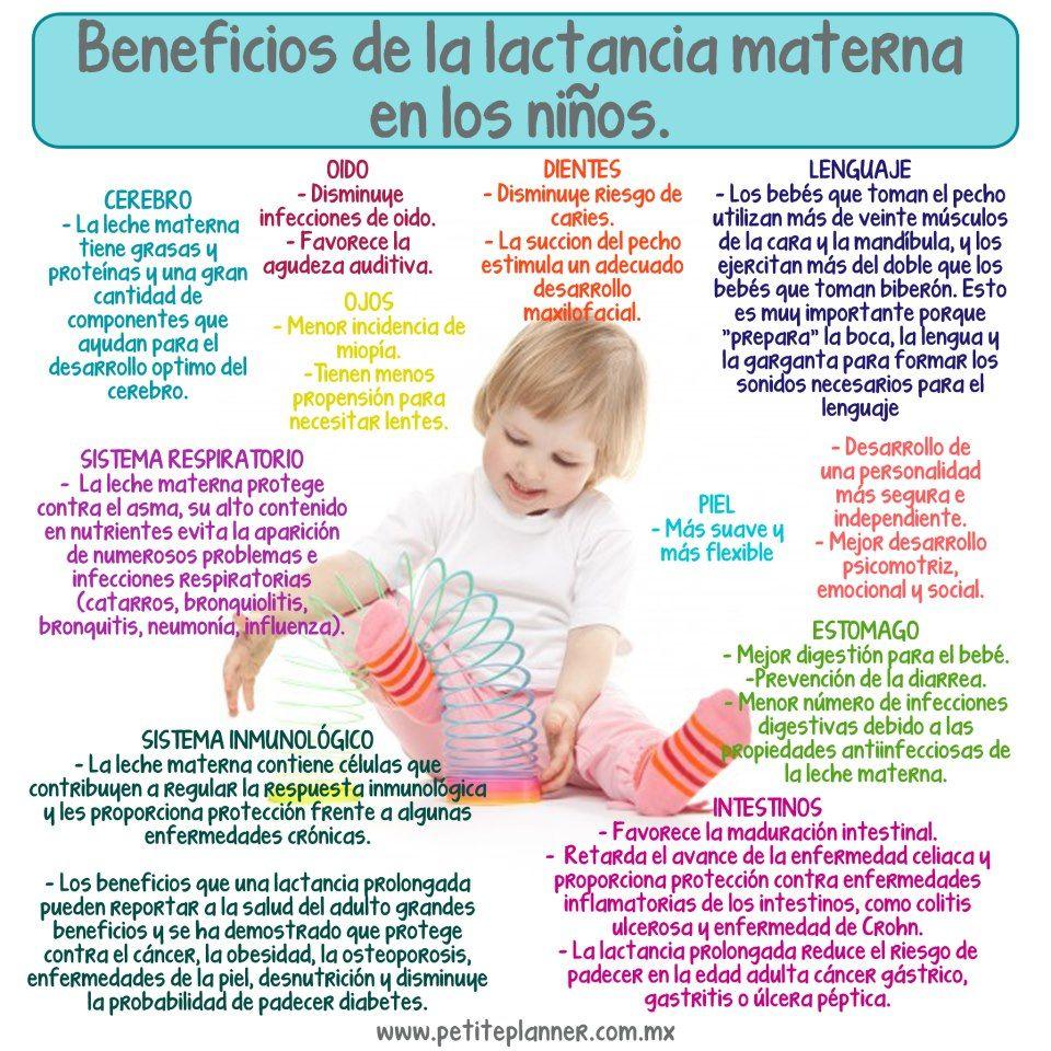 beneficios de la lactancia materna para el niño