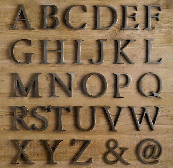 Metal Alphabet Letters For Wall Stunning Monogram Style  Large Living Room Letters  Metals Restoration Decorating Inspiration