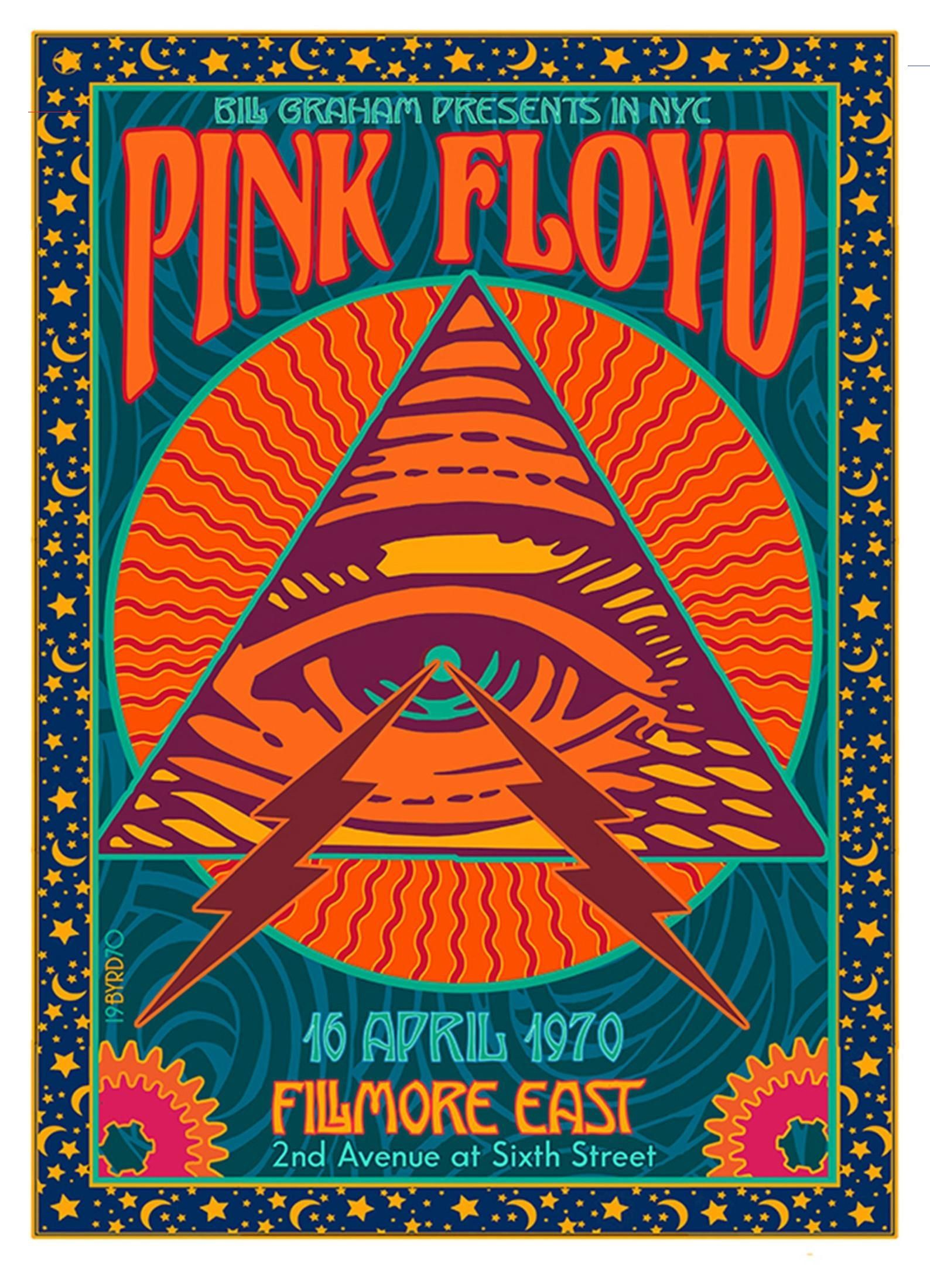 Pink floyd at the fillmore east 1989 etsy