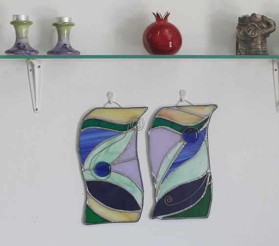 Stained glass wall decor art sets